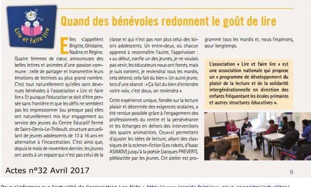 Temps de lecture pour les jeunes du CEF (Centre d'Education Fermé) de Saint Denis le Thiboult